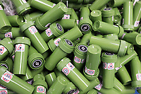 """Dram bottles containing """"g-cap"""" gel capsules of cannabis are seen in the packaging department at the production and packaging facility for Garden Remedies, a medical cannabis producer, in Fitchburg, Massachusetts, USA, on Fri., Feb. 22, 2019.  The bottles have a variety of safety labels, including stickers that read """"Not safe for children"""" and """"Contains THC"""" in addition to other safety features."""