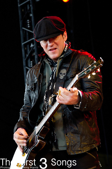 Keith Nelson of Buckcherry performs at the Klipsch Music Center in Indianapolis, IN.