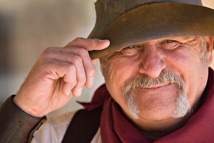 Male historical reenactor in Tombstone, Arizona