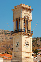 The port clock tower, Hydra,  Greek Saronic Islands