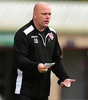 Morecambe manager Jim Bentley shouts instructions to his team from the technical area<br /> <br /> Photographer Chris Vaughan/CameraSport<br /> <br /> The EFL Sky Bet League Two - Lincoln City v Morecambe - Saturday August 12th 2017 - Sincil Bank - Lincoln<br /> <br /> World Copyright &copy; 2017 CameraSport. All rights reserved. 43 Linden Ave. Countesthorpe. Leicester. England. LE8 5PG - Tel: +44 (0) 116 277 4147 - admin@camerasport.com - www.camerasport.com