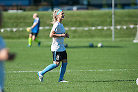 Kansas City, MO - Sunday September 11, 2016: Julie Johnston prior to a regular season National Women's Soccer League (NWSL) match between FC Kansas City and the Chicago Red Stars at Swope Soccer Village.