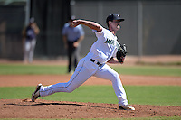 Seattle Mariners pitcher Rohn Pierce (38) during an Instructional League game against the Milwaukee Brewers on October 4, 2014 at Peoria Stadium Training Complex in Peoria, Arizona.  (Mike Janes/Four Seam Images)