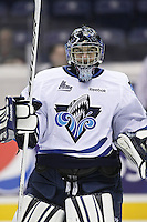 QMJHL (LHJMQ) hockey profile photo on Rimouski Oceanic Philippe Desrosiers October 6, 2012 at the Colisee Pepsi in Quebec city.