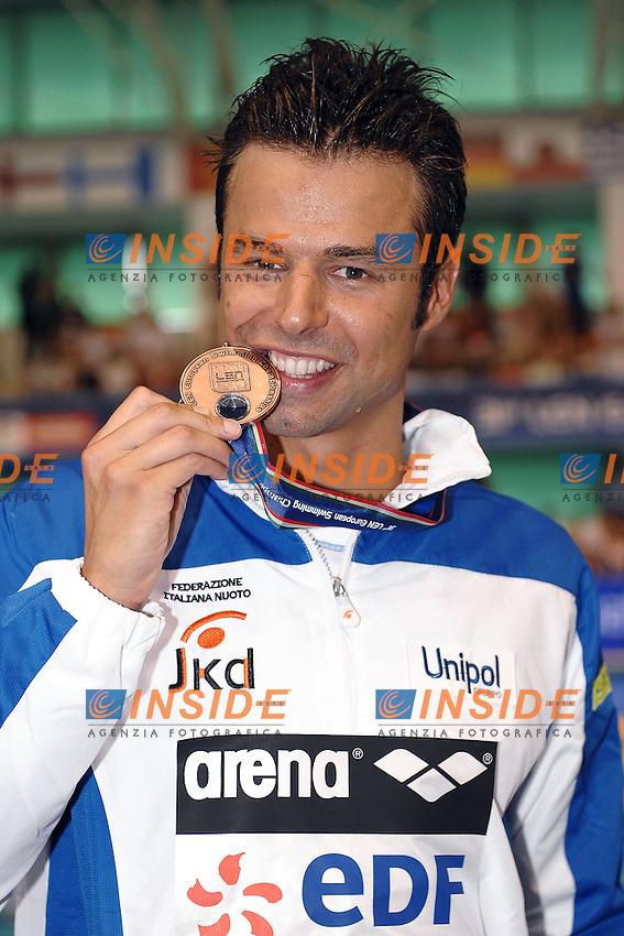 Samuel Pizzetti Italy 400m freestyle medaglia di bronzo.Debrecen 21/5/2012 .31st European Swimming Championships - Nuoto.Foto Insidefoto / Andrea Staccioli