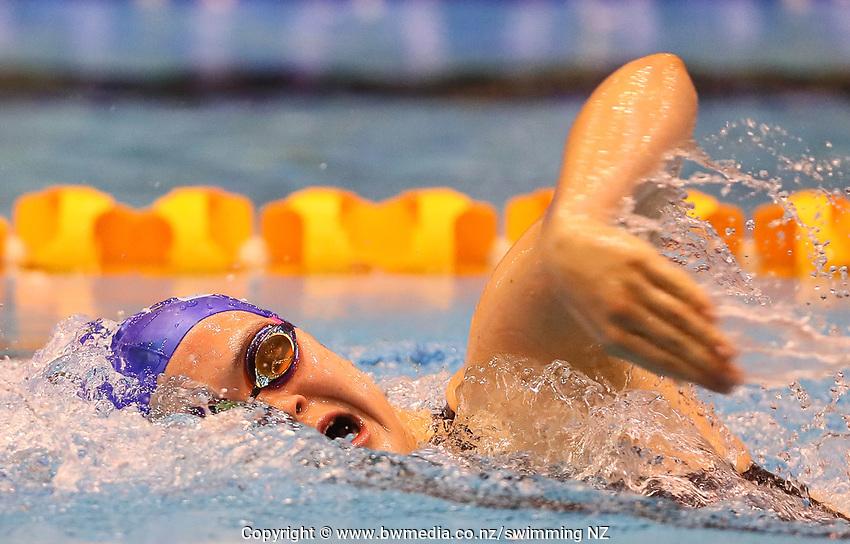 Erika Fairweather, 400m Free NAG 15yr old record. Swimming New Zealand Aon National Age Group Championships, Wellington Regional Aquatic Centre, Wellington, New Zealand, Saturday 20 April 2019. Photo: Simon Watts/www.bwmedia.co.nz