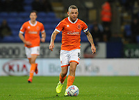 Blackpool's Jay Spearing<br /> <br /> Photographer Kevin Barnes/CameraSport<br /> <br /> The EFL Sky Bet League One - Bolton Wanderers v Blackpool - Monday 7th October 2019 - University of Bolton Stadium - Bolton<br /> <br /> World Copyright © 2019 CameraSport. All rights reserved. 43 Linden Ave. Countesthorpe. Leicester. England. LE8 5PG - Tel: +44 (0) 116 277 4147 - admin@camerasport.com - www.camerasport.com