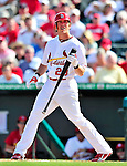 10 March 2010: St. Louis Cardinals' outfielder Colby Rasmus in action during a Spring Training game against the Washington Nationals at Roger Dean Stadium in Jupiter, Florida. The Cardinals defeated the Nationals 6-4 in Grapefruit League action. Mandatory Credit: Ed Wolfstein Photo