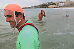 This iconic Island Challenge ocean swim<br /> is a  popular ocean swim which saw a record 1800 competitors taking the plunge,<br /> circumnavigating Wedding Cake Island and crossing the finish line after conquering the sometimes challenging ocean conditions.<br /> Sunday 28th November 2010.Pictures Steve Christo
