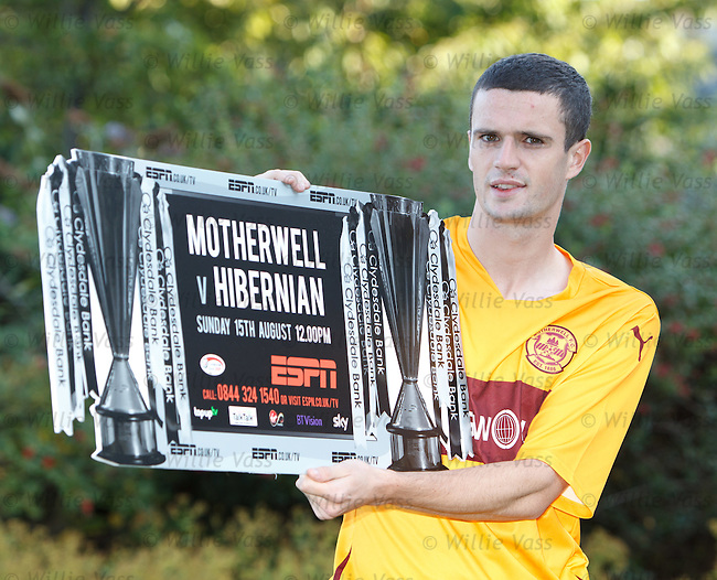 Jamie Murphy,of Motherwell at the Hilton Hotel, Glasgow to promote the new SPL season on ESPN