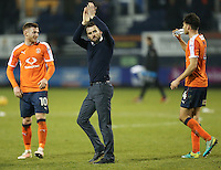 Nathan Jones (Manager) of Luton Town (centre) after the Sky Bet League 2 match between Luton Town and Barnet at Kenilworth Road, Luton, England on 31 December 2016. Photo by David Horn.