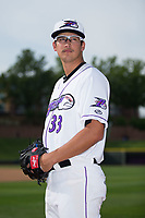 Winston-Salem Dash pitcher Dane Dunning (33) poses for a photo prior to the game against the Myrtle Beach Pelicans at BB&T Ballpark on May 11, 2017 in Winston-Salem, North Carolina.  The Pelicans defeated the Dash 9-7.  (Brian Westerholt/Four Seam Images)