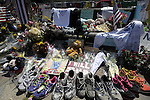 (Boston, Ma 042713) The memorial keeps growing thousands of people stop by on Saturday, at the Boston Marathon Bombing  memorial site on Boylston Street in Boston.  (Jim Michaud Photo) for Sunday