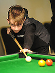 Eoghan O'Boyle from Potters snooker and pool club playing in the Irish Pool Association Tour in the Boyne Valley hotel. Photo: Colin Bell/pressphotos.ie