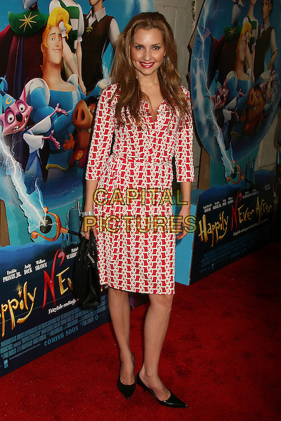 "SHANI RIGSBEE.At the ""Happily N'Ever After"" Los Angeles Premiere .at Mann's Festival Theatre, Westwood, California, .USA, 16 December 2006..full length red and white patterned print dress.CAP/ADM/BP.©Byron Purvis/Admedia/Capital Pictures"