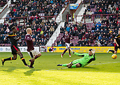 17th March 2018, Tynecastle Park, Edinburgh, Scotland; Scottish Premier League football, Heart of Midlothian versus Partick Thistle;  Steven Naismith of Hearts scores his sides second goal