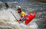 June 4, 2016 - Lyons, Colorado, U.S. -  French freestyle kayaker, Dumoulin Mathieu, navigates Black Bear Hole on the South Saint Vrain River during freestyle competition at the Lyons Outdoor Games, Lyons, Colorado.