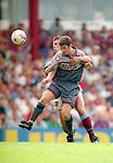 Denis Irwin of Manchester Utd - Barclays Premier League - Aston Villa v Manchester Utd - Villa Park Stadium - Birmingham - England - 19th August 1995 - Picture Sportimage