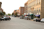 Bush Street in historic downtown Red Wing Minnesota USA