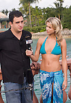 Mizrachi interviewed by Sabina Gadecki after being eliminated.