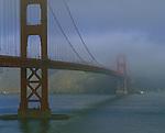 Golden Gate shrouded in fog