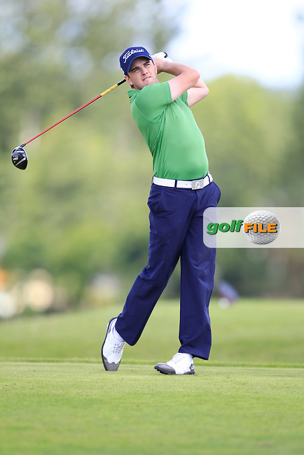 Mark O'Mahony (Titleist) on the 6th tee during the Johnston Mooney &amp; O'Brien PGA Challenge Round 1 at Carton House Golf Club  7th August 2013 <br /> Picture:  Thos Caffrey / www.golffile.ie