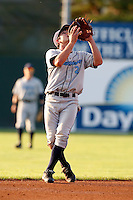 August 12, 2009:  Shortstop Sean Nicol of the Vermont Lake Monsters during a game at Dwyer Stadium in Batavia, NY.  The Lake Monsters are the Short-Season Class-A affiliate of the Washington Nationals.  Photo By Mike Janes/Four Seam Images