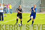 Tralee Dynamos Aaron Houlihan and Limerick F.C.'s James O'Brien.