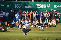 Oliver Fisher (ENG)18th hole during Round 3 of the Portugal Masters, Dom Pedro Victoria Golf Course, Vilamoura, Vilamoura, Portugal. 26/10/2019<br /> Picture Andy Crook / Golffile.ie<br /> <br /> All photo usage must carry mandatory copyright credit (© Golffile   Andy Crook)