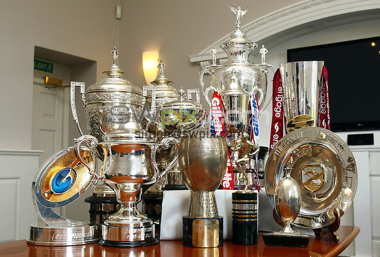 PICTURE BY VAUGHN RIDLEY/SWPIX.COM...Rugby League - RFL Heritage Day at Red Hall - Red Hall, Leeds, England - 10/09/11...RFL Trophies.