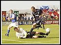 23/08/2003                   Copyright Pic : James Stewart.File Name : stewart-falkirk v qots 05.JOHN DODDS SAVES AT THE FEET OF COLIN MCMENAMIN...James Stewart Photo Agency, 19 Carronlea Drive, Falkirk. FK2 8DN      Vat Reg No. 607 6932 25.Office     : +44 (0)1324 570906     .Mobile  : +44 (0)7721 416997.Fax         :  +44 (0)1324 570906.E-mail  :  jim@jspa.co.uk.If you require further information then contact Jim Stewart on any of the numbers above.........