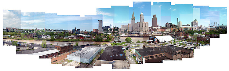 The Cleveland Skyline from the Carnegie Ave. bridge
