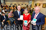 Kay Moloney Caball with Tommy O'Connor, Kerry County Librarian, and Jimmy Deenihan, Minister for the Diaspora, launches her new book Finding your Ancestors in Kerry at Kerry County  Library on Monday