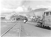 D&amp;RGW #463, #482 and an RGS Goose on Durango turntable leads.<br /> D&amp;RGW  Durango, CO  Taken by Barriger, John W. III - 1937