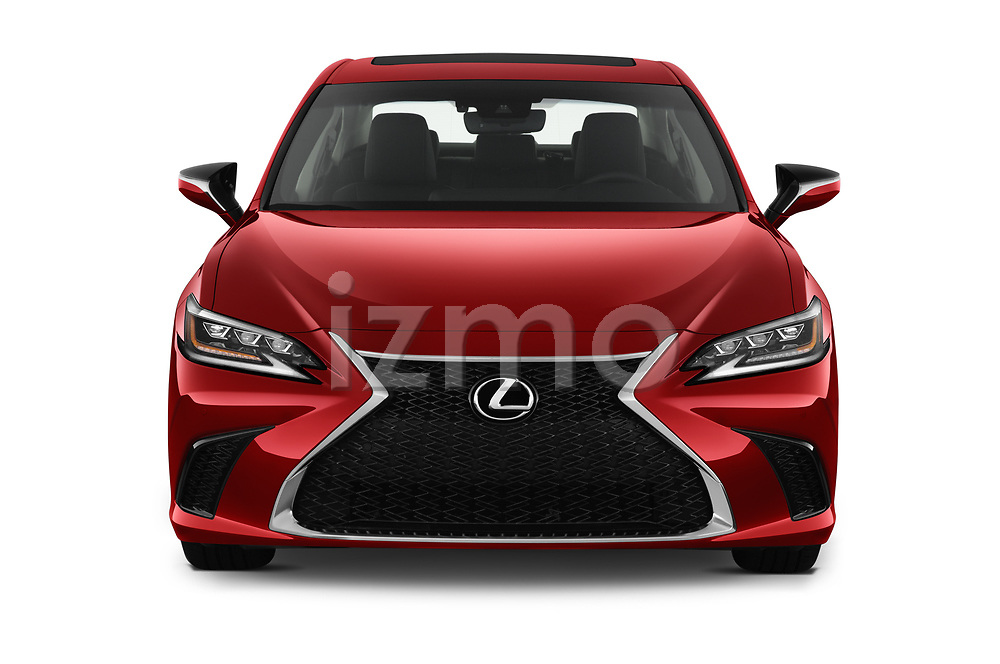 Car photography straight front view of a 2020 Lexus ES-350 F-Sport 4 Door Sedan Front View