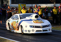 May 31, 2013; Englishtown, NJ, USA: NHRA pro stock driver Steve Kent during qualifying for the Summer Nationals at Raceway Park. Mandatory Credit: Mark J. Rebilas-