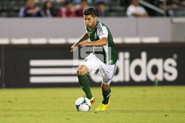 CARSON, California - September 14, 2013: The Portland Timbers and Chivas USA played to 0-0 tie during a Major League Soccer (MLS) game at StubHub Center stadium.