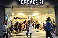 The popular retail shop Forever 21 in Shinjuku, Tokyo...............