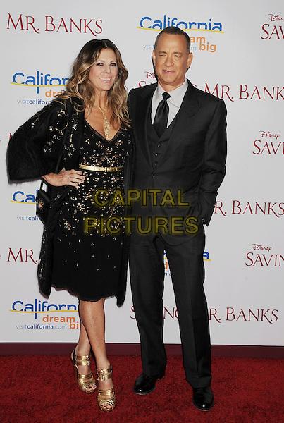BURBANK, CA- DECEMBER 09: Rita Wilson; Tom Hanks at the 'Saving Mr. Banks' - Los Angeles Premiere at Walt Disney Studios on December 9, 2013 in Burbank, California.<br /> CAP/ROT/TM<br /> &copy;Tony Michaels/Roth Stock/Capital Pictures