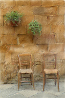 Chairs in Pienza, Italy
