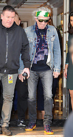 October 19 2017 PARIS FRANCE the Rolling Stones are leaving the Georges V Hotel<br /> on avenue Georges V to go to their concert<br /> at U Arena . Keith Richards is seen leaving<br /> the hotel.