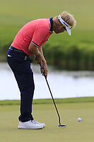 Soren Kjeldsen (DEN) putts on the 15th green during Saturday's Round 3 of the Porsche European Open 2018 held at Green Eagle Golf Courses, Hamburg Germany. 28th July 2018.<br /> Picture: Eoin Clarke | Golffile<br /> <br /> <br /> All photos usage must carry mandatory copyright credit (&copy; Golffile | Eoin Clarke)