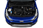 Car Stock 2020 Hyundai i20-Active Active 5 Door Hatchback Engine  high angle detail view