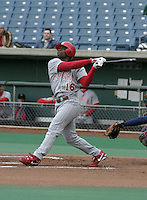 May 5, 2004:  Lou Collier (16) of the Scranton-Wilkes Barre Red Barons, Class-AAA International League affiliate of the Philadelphia Phillies, during a game at P&C Stadium in Syracuse, NY.  Photo by:  Mike Janes/Four Seam Images