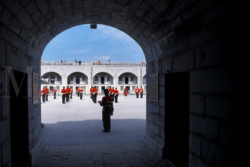 Fort Henry, Kingston, Ontario, Canada, The Garrison Parade at Fort Henry National Historic Site in Kingston.
