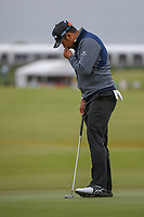 Hideki Matsuyama (JPN) barely misses his birdie putt on 16 during round 2 of the AT&T Byron Nelson, Trinity Forest Golf Club, Dallas, Texas, USA. 5/10/2019.<br /> Picture: Golffile | Ken Murray<br /> <br /> <br /> All photo usage must carry mandatory copyright credit (© Golffile | Ken Murray)