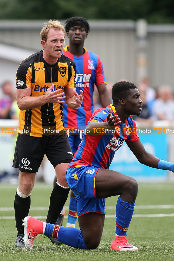 Stuart Lewis of Maidstone shows his frustration during Maidstone United  vs Crystal Palace, Friendly Match Football at the Gallagher Stadium on 15th July 2017