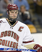 Joe Whitney (BC - 15) - The Boston College Eagles defeated the Northeastern University Huskies 5-4 in their Hockey East Semi-Final on Friday, March 18, 2011, at TD Garden in Boston, Massachusetts.
