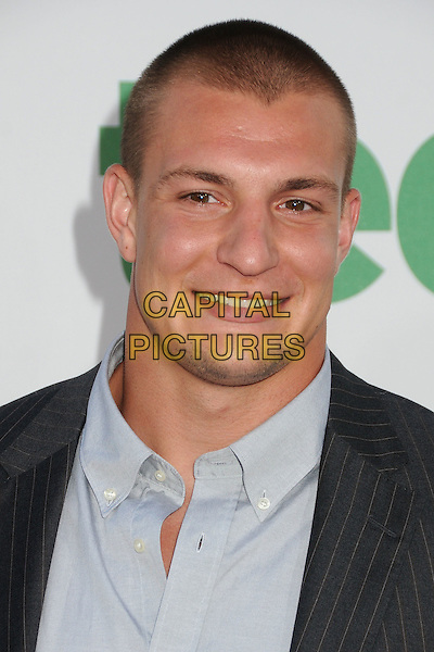 Rob Gronkowski, New England Patriots.The L.A. Premiere of 'Ted' held at The Grauman's Chinese Theatre in Hollywood, California, USA..June 21st, 2012.headshot portrait grey gray   .CAP/ADM/BP.©Byron Purvis/AdMedia/Capital Pictures.