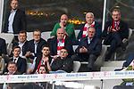 14.04.2018, Allianz Arena, Muenchen, GER, 1.FBL,  FC Bayern Muenchen vs. Borussia Moenchengladbach, im Bild  Uli Hoeness (Praesident FCB) und Karl-Heinz Rummenigge (Vorstandsvorsitzender FCB) <br /> <br />  Foto &copy; nordphoto / Straubmeier
